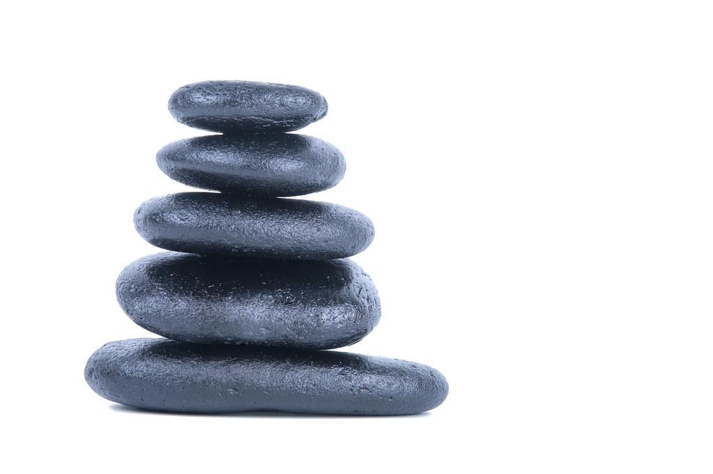 Zen Stones Stack Of Balanced Zen Stones Isolated On White Flickr