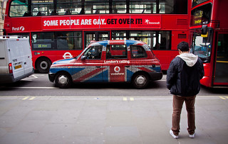 """""""Some People Are Gay. Get Over It"""" Double Decker Bus Ad - London, UK   by ChrisGoldNY"""