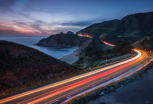 ocean california ca leica longexposure sunset cali coast pacific sunsets highway1 pacificocean coastal slowshutter lighttrails pacifica summilux hwy1 21mm ca1 cartrails longexpo leicam