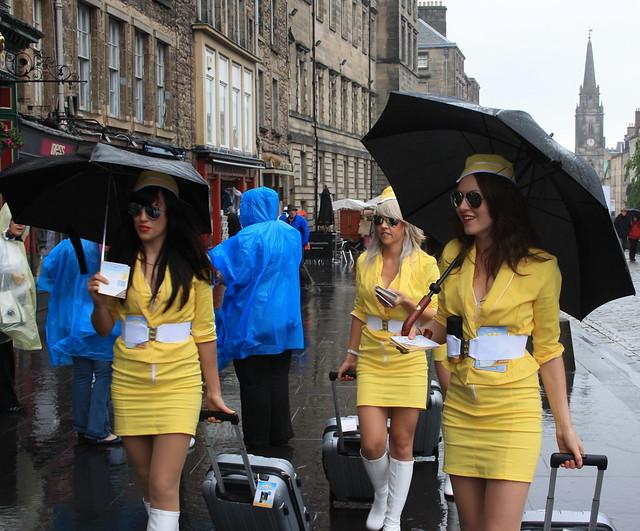 Edinburgh: Lynx Air Stewardesses