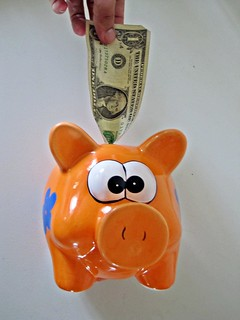 Dollar in Piggy Bank | by Images_of_Money