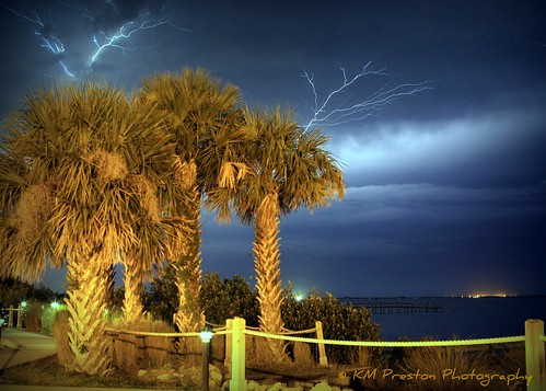 sky storm night river 100views lightning planetearth indianriver sebastianfl yahooweather