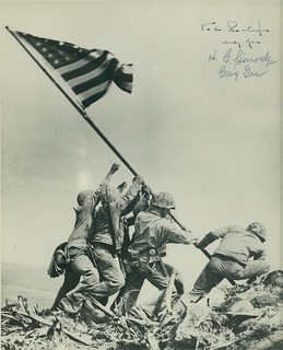 Flag Raising on Iwo Jima, 23 February 1945 | by Archives Branch, USMC History Division