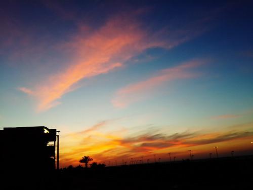 sunset sky sun landscape egypt samsung portsaid mobilephotography galagxys4