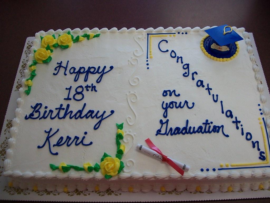Sensational Birthday Graduation Cake Lindas Kitchen Flickr Personalised Birthday Cards Beptaeletsinfo
