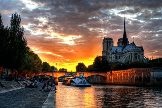 Sunset over Notre Dame | by ajagendorf25