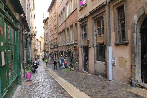 Rain-washed streets of Vieux Lyon. | by ironypoisoning