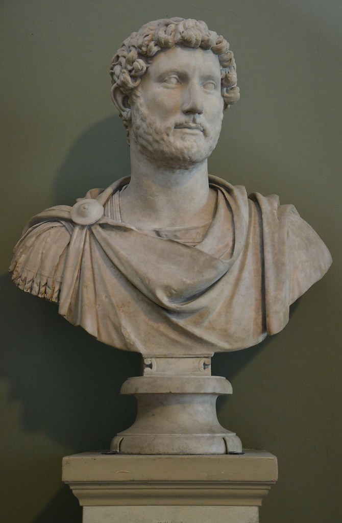 Marble Bust Of The Emperor Hadrian Wearing Military Dress