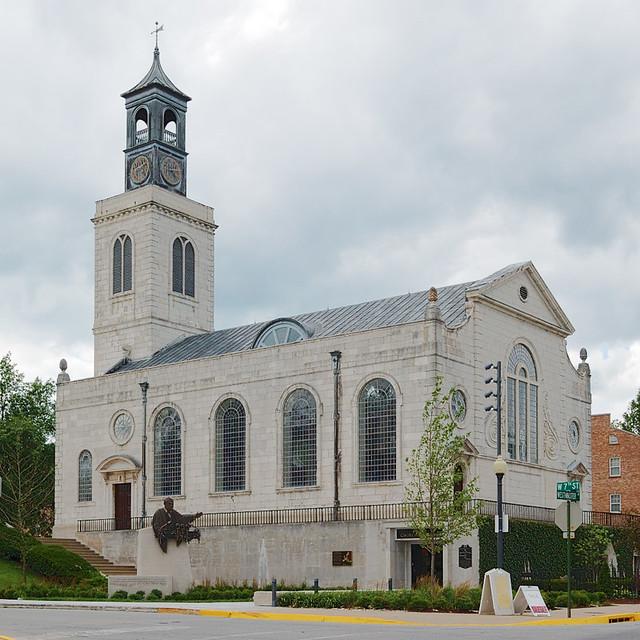 Church of Saint Mary the Virgin, Aldermanbury, in Fulton, Missouri, USA - exterior side
