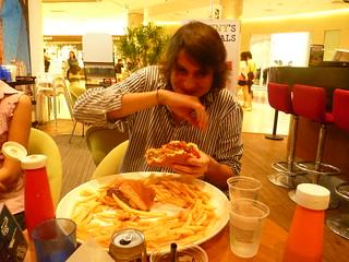Watching a friend take on the Burger Challenge in Singapore | by JMParrone