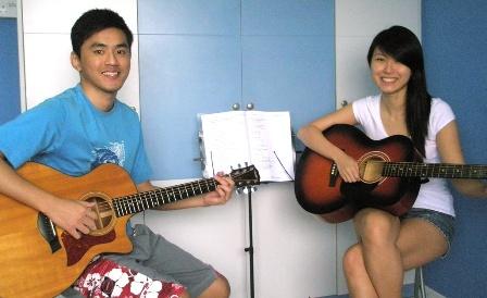 Private guitar lessons Singapore Eryn