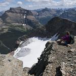 Kristen Overlooking Piegan Glacier