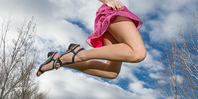 Just a little higher than the birds.  Happy Love to Leap Thursday!!
