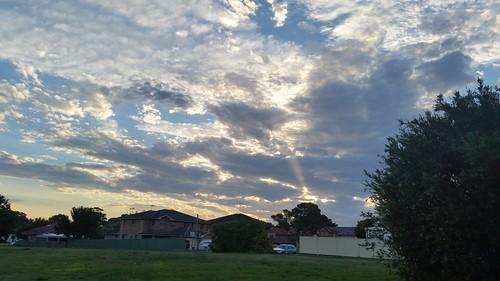 phonecamera nsw sanssouci australia samsunggalaxys5 clouds sunset summer light suburbia sky
