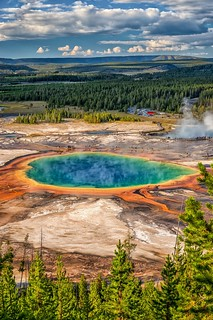 The Colors of Yellowstone   The Grand Prismatic Spring is on