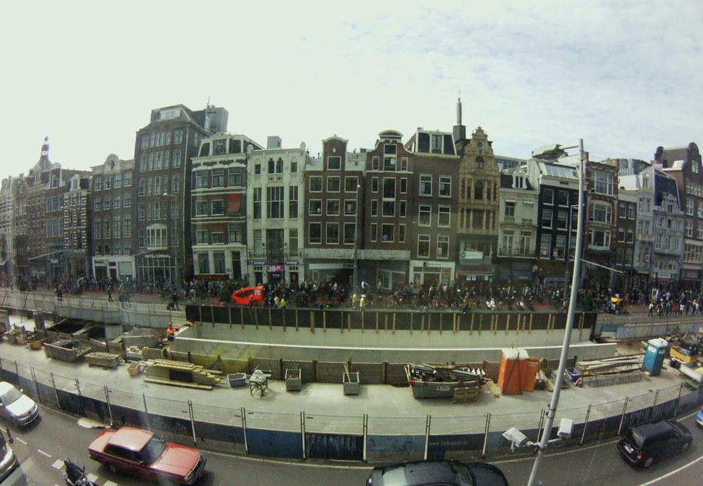 Rokin, Amsterdam [Lofi-Fisheye]