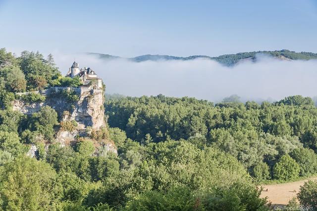 Belcastel. Brume sur la Dordogne. [Explore 30-10-2016]