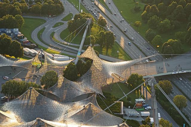 L'entrée du parc olympique (Munich)