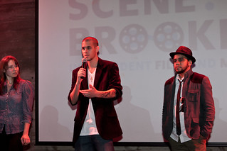 """From left: """"Transference Love"""" director Sonya Goddy, """"My Butterfly"""" director Joe Pomarico, and cinematographer John Rosario   by Brooklyn Arts Council"""