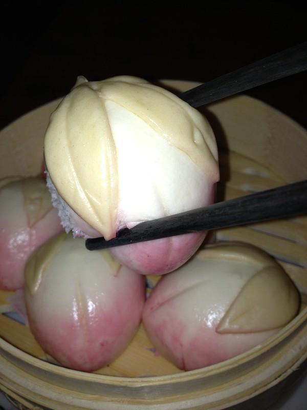 Peach shaped buns