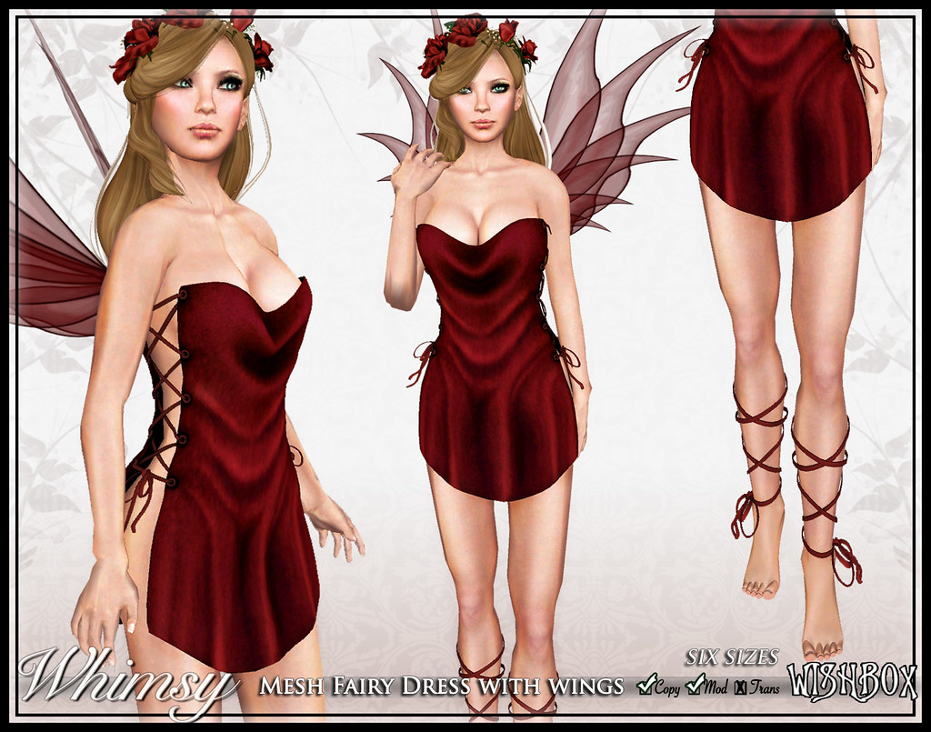 Whimsy Mesh Fairy (Red)