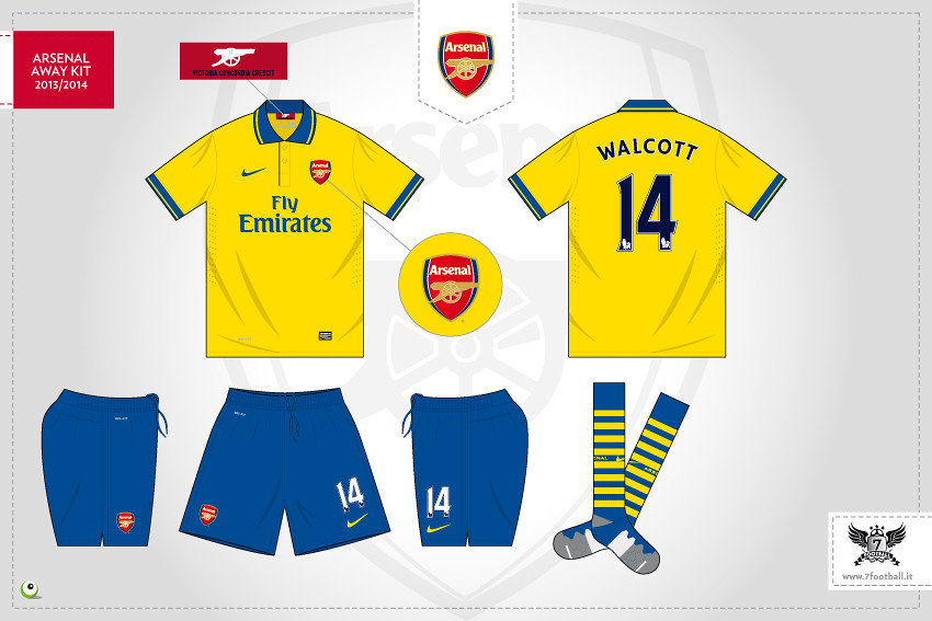 finest selection ed170 cb051 Arsenal away kit 2013/2014 | Sergio Scala | Flickr