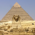 pyramid of giza and the sphynx