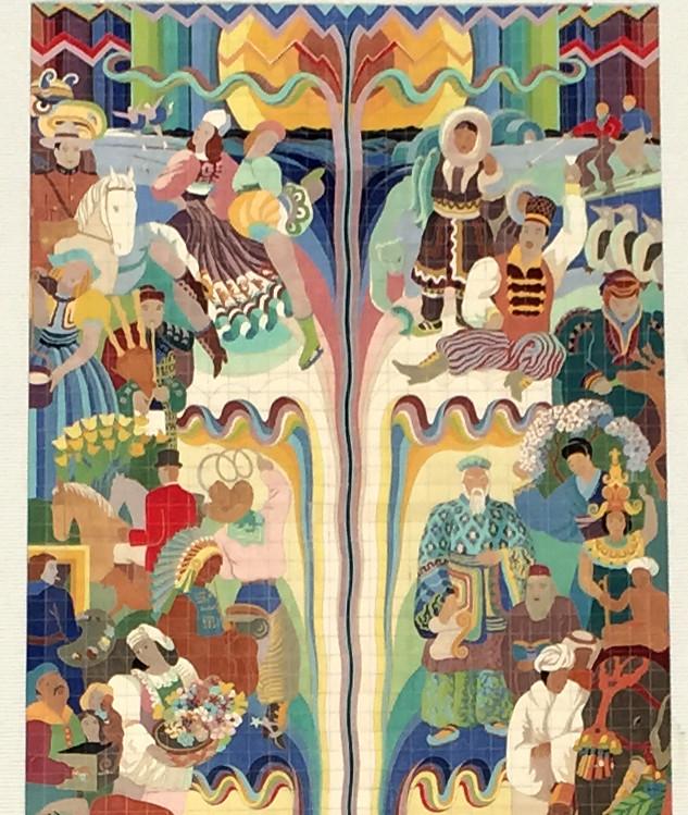 Nbc Radio City Mural Top Half C J Fitzgerald C 1942 1 Flickr