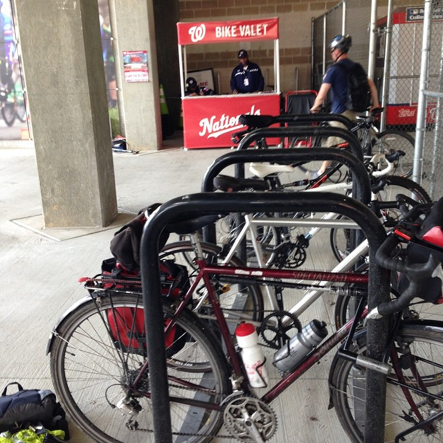 Bike valet at #nats park is the bomb