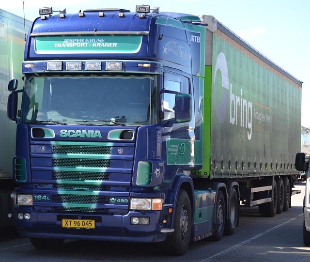 Scania R164L V8 480 Topline - Kruse Jesper Transport Aps  Hornslet - JKT8 - XT 96 045