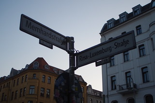 Memhardstrasse and Rosa Luxemburg Strasse