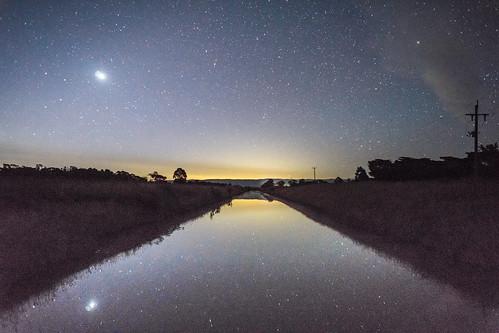 astrophotography nightsky stars landscape outback country australia venus planet