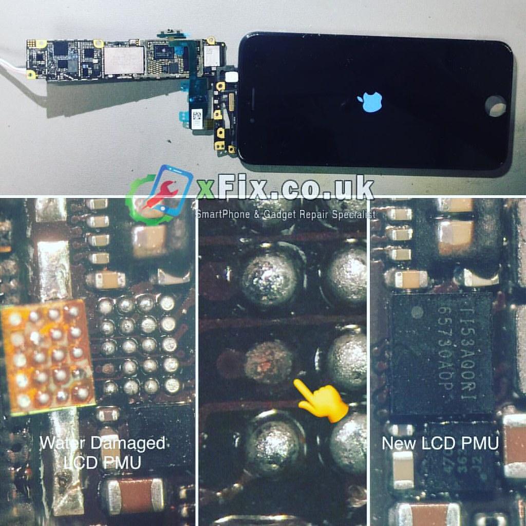3eeb25d8fd2e9a Water damaged iPhone 6 LCD Display PMU IC Chip U1501 TI5BC5SJI Replacement  🔬📱.