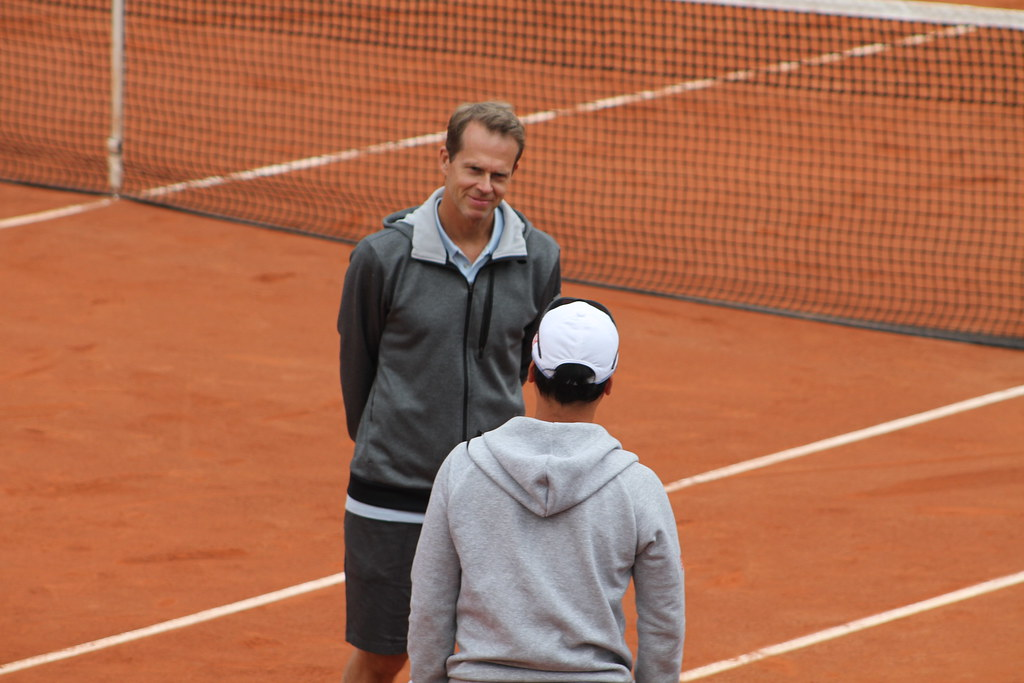 Stefan Edberg and Michael Chang