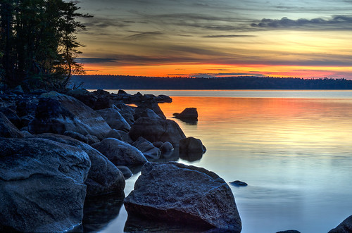 paulnoblephotography paulnobleimages standish freelancephotographer flickr interestingness sunset rocks lake lakesregion bigsebagolake sebagolake sebago evening maine mainephotographers northeast