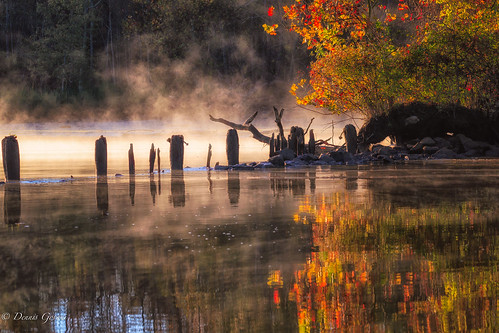 virginia autumn background fall fog jamesriver landscape sunrise water richmond unitedstates us