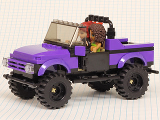 Purple 4x4 pickup | by Pencil42
