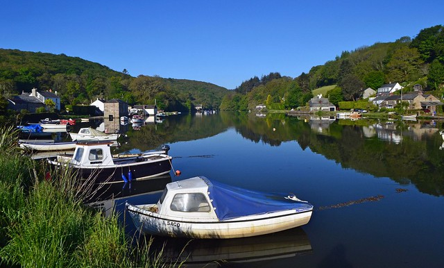 Lerryn reflections and boats