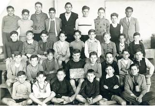 Maroc, Casablanca, 1937, école Jules Ferry, Classe de 5ème