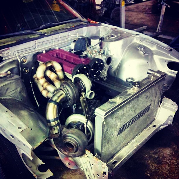 How about a compound turbo 4g63 in an S13?! @andyadriance