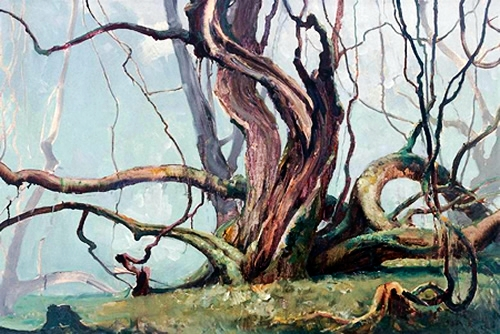 He Kongde (1925- ) - 1984 Tree (Private Collection)