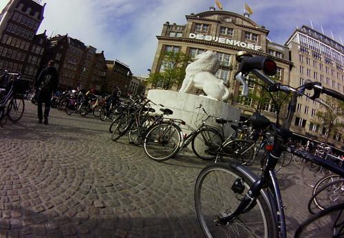 Dam, Amsterdam [Lofi-Fisheye]
