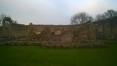 Eynsford Castle curtain wall