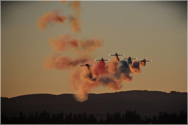 Patriots Jet Team low pass 7 26 2013