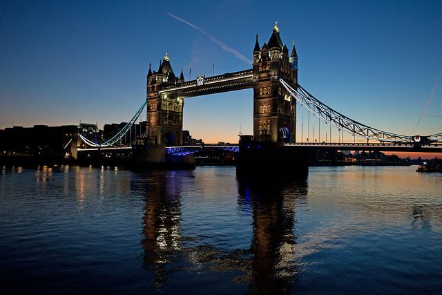 Before sunrise at Tower Bridge, London
