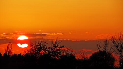 light sunset shadow sky cloud sun tree grass silhouette set skyline skyscape bedford fire bedfordshire felton lumen cardington robertfelton