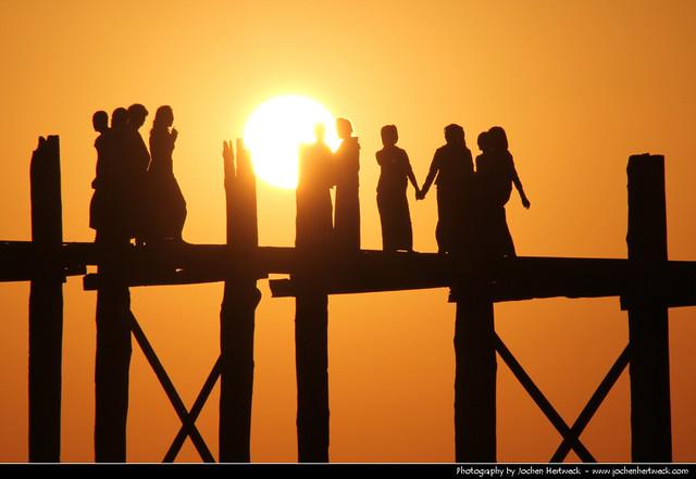 U Bein Bridge @ Sunset, Amarapura, Myanmar