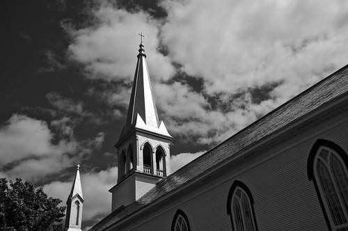 2016 bw blackwhite canada cantonsdelest church clouds coaticook d90 église été juillet nature nikkor18300mm nikon nikond90 noiretblanc nuages paysage saintvenantdepaquette québec