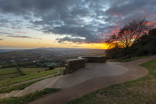 boxhill surrey nationaltrust northdowns guildford dorking landscape sunset evening salomonsmemorial clouds viewpoint surreyhills aonb