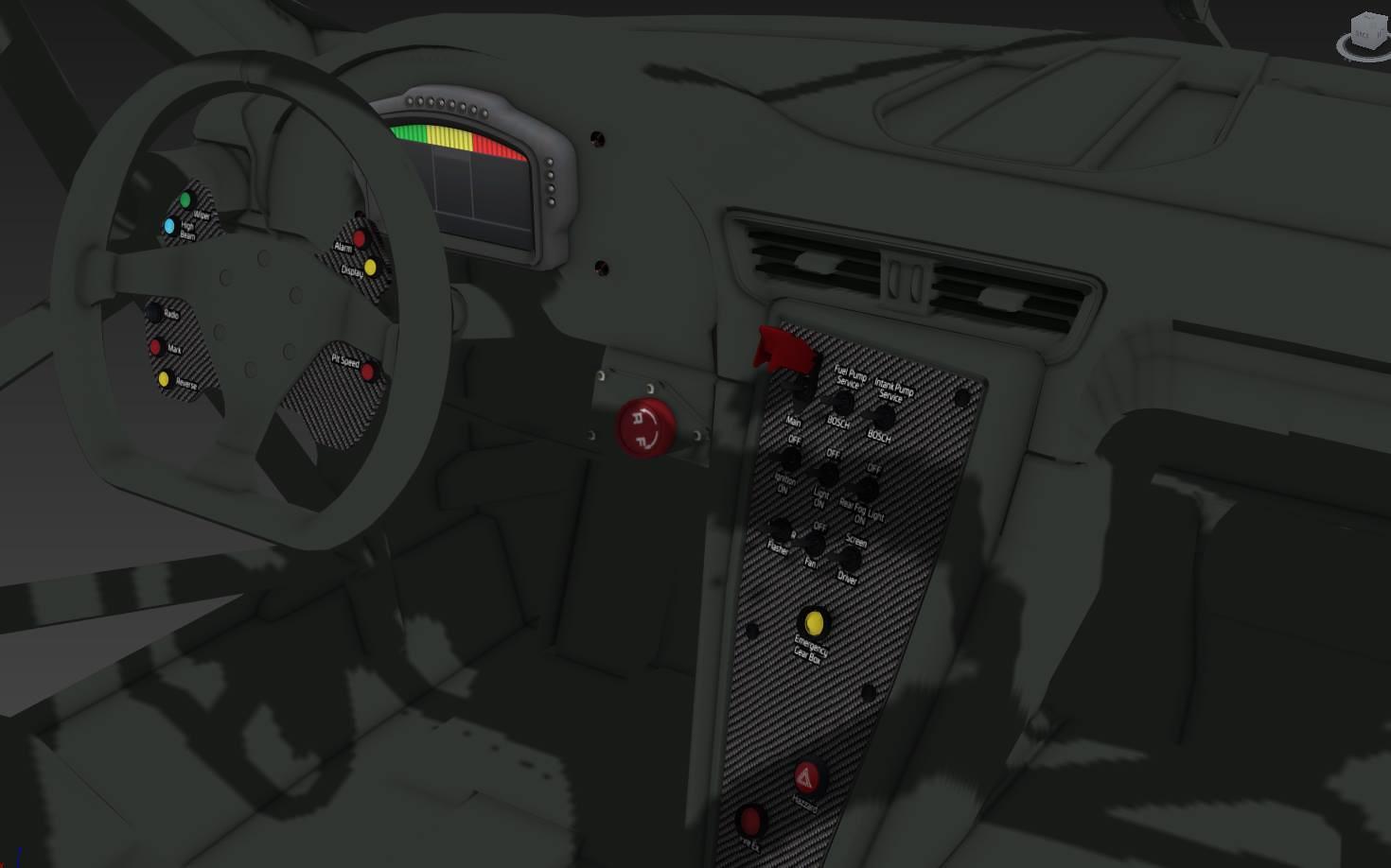 Porsche 911 GT America Cockpit